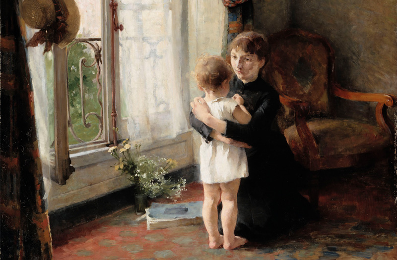 Mother and child, 1886 by Helene Schjerfbeck