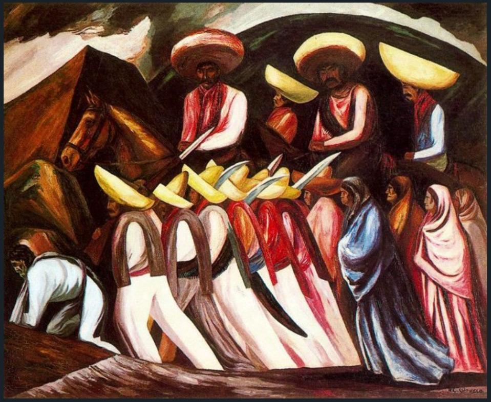 Zapatistas Marching, 1931 José Clemente Orozco