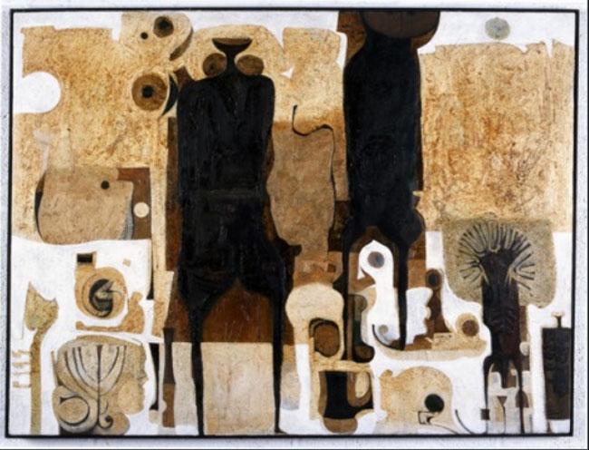 """They Always Appear"", 1968 - Ibrahim El-Salahi"