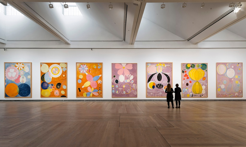 Installation view Hilma af Klint - A Pioneer of Abstraction, 2013