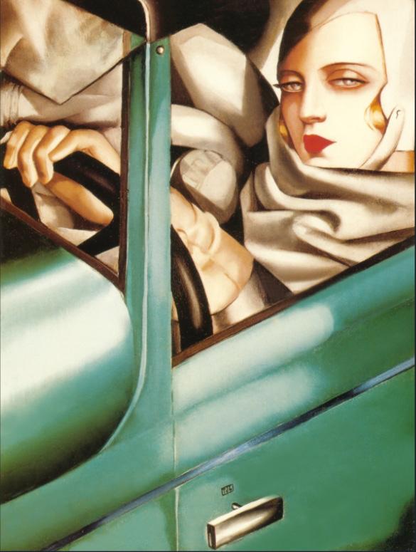 Tamara de Lempicka - My Portrait (Self-Portrait in the Green Bugatti), 1929