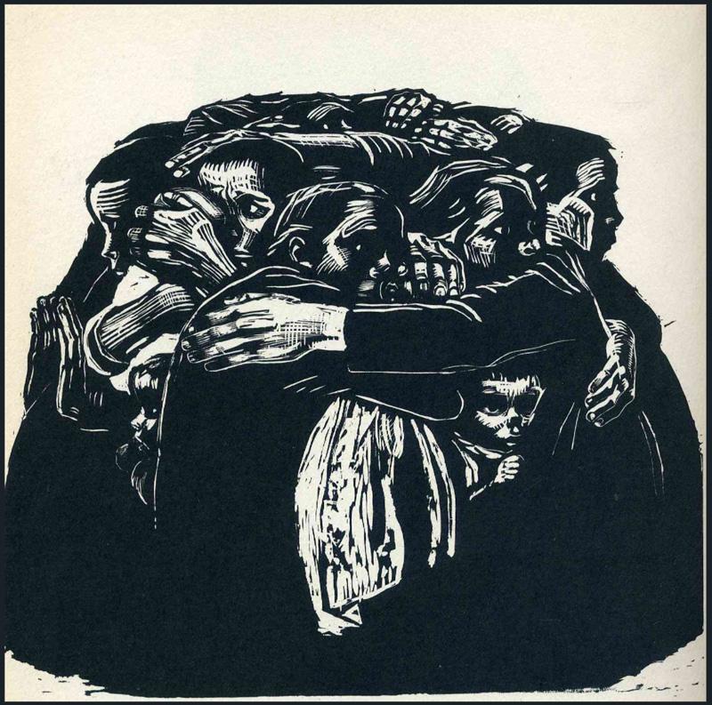 "Kathe Kollwitz, ""The mothers"" 1922"