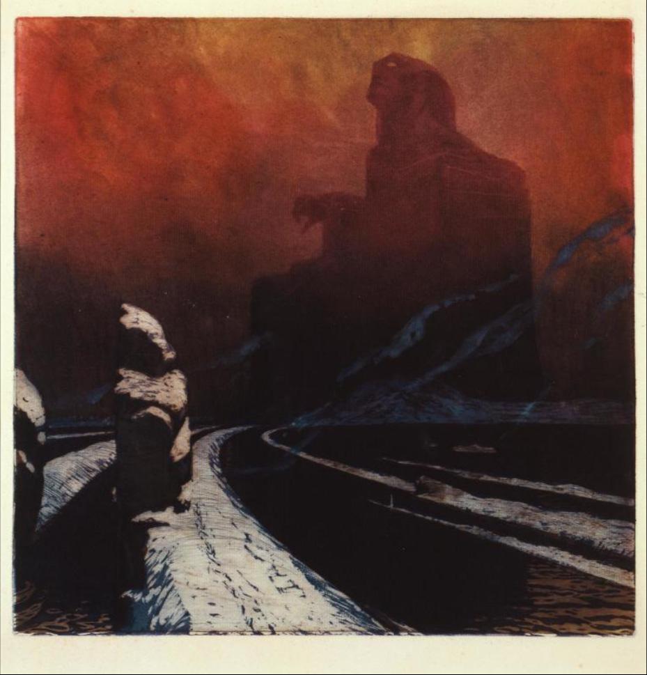 L'Entêtement (ou l'Idole noire), 1900-1903 - Print by Kupka