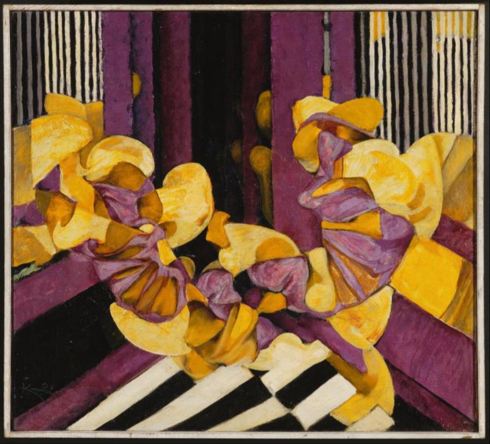 Violet et jaune, réminiscence, 1921 - Painting by Kupka