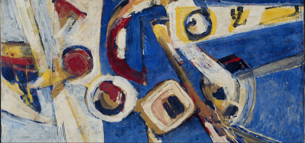 Painting 'Abstract', 1969 by Erwin de Vries