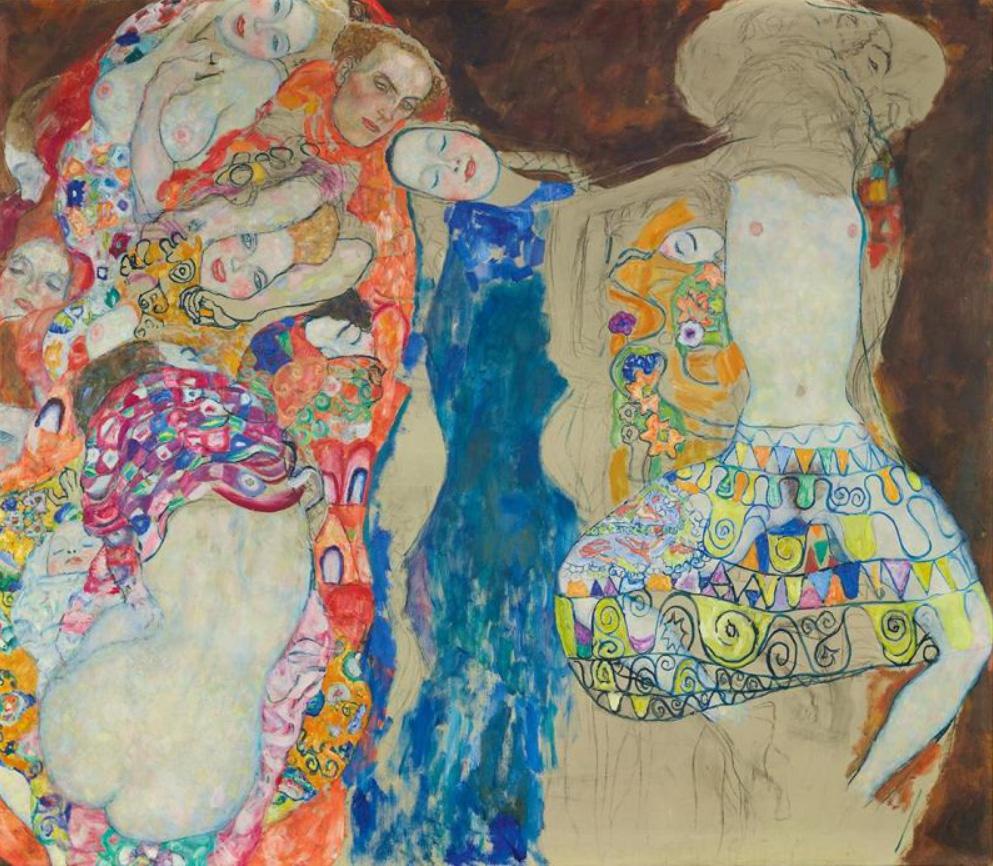 "Gustav Klimt painting ""Die Braut, 1917-1918""."