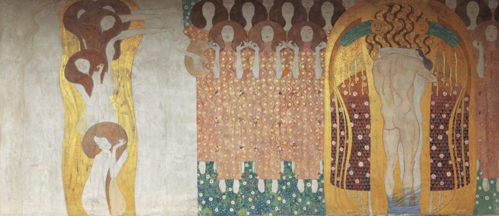 Gustav Klimt painting Beethoven Frieze, Secession.
